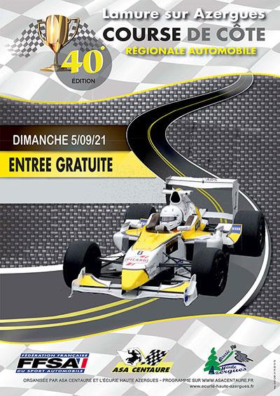 Affiche Course de Côte de Lamure-sur-Azergues 2021-small